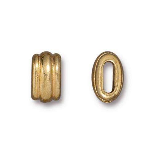TierraCast Bead Deco Barrel Medium - Gold Plated