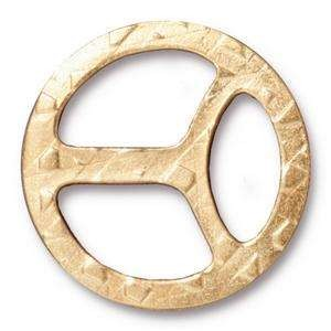 TierraCast Tri-Buckle for 10mm Leather - Gold Plate