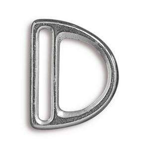 TierraCast Clasp 20mm Slotted D Ring - Antique Silver