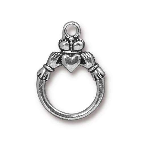TierraCast Ring Claddagh - Silver Plated
