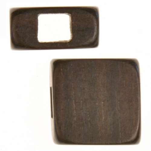 Tiger Ebony Wood Slide Large Hole Square 15mm