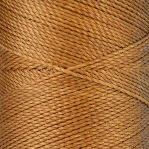 Waxed Jewelry Cord Round - Camel