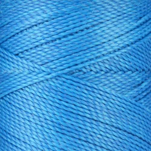 Waxed Jewelry Cord Round - Cancun Blue