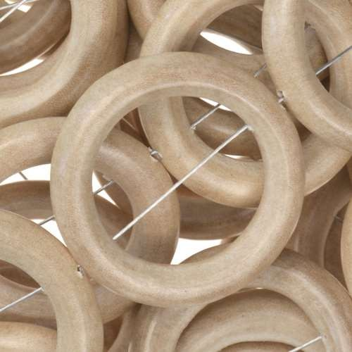 White Wood Natural Bead O-ring 28x5mm