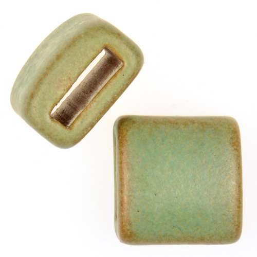 Clay River Porcelain Slider Flat 10mm Large - Patina Green