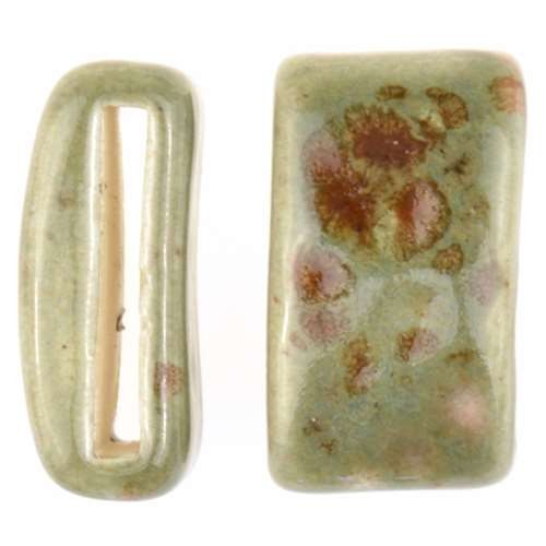 Clay River Porcelain Slider Flat 20mm Large - Green Agate