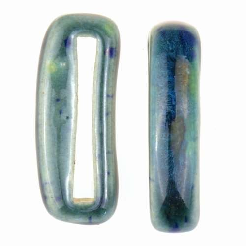 Clay River Porcelain Slider Flat 20mm Small - Blue Azure