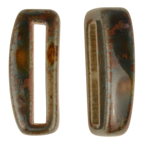 Clay River Porcelain Slider Flat 20mm Small - Moss Agate