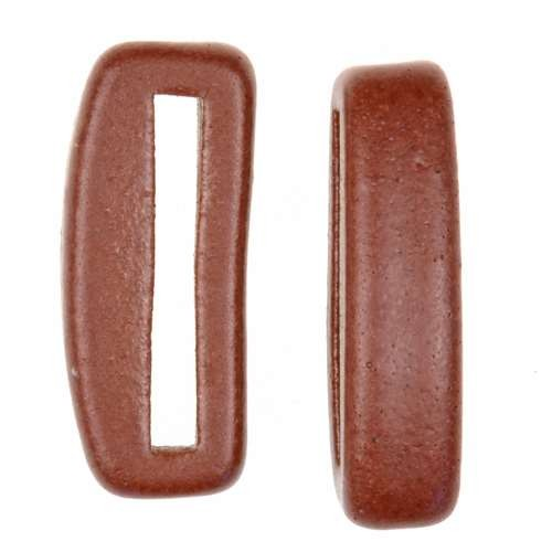 Clay River Porcelain Slider Flat 20mm Small - Matte Cocoa