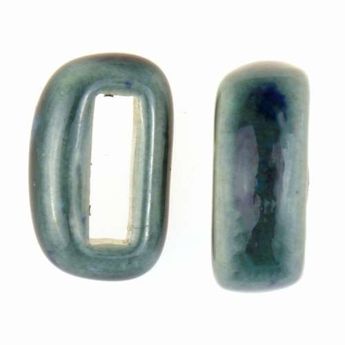 Clay River Porcelain Slider Flat 10mm Small - Blue Azure