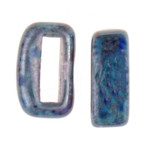 Clay River Porcelain Slider Flat 10mm Small - Marbelous Blue