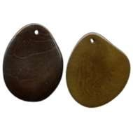 Tagua Groovy Slice - Small Thin - Olive