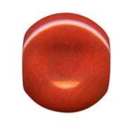 Tagua Thumbprint Connector - Coral