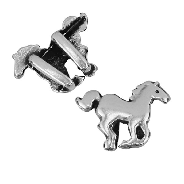 5mm flat Horse Slider per 10 pieces ANT SILVER