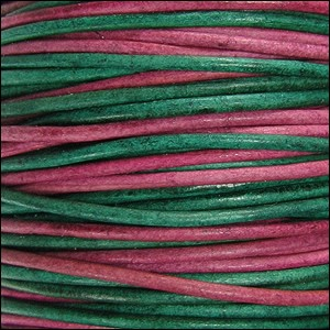 1.5mm Round Indian Leather Cord - Sunset Natural Dye - per yard