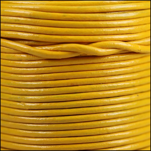 1.5mm Round Indian Leather Cord - Fire