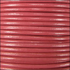 1mm Round Indian Leather Cord - Blush - per yard