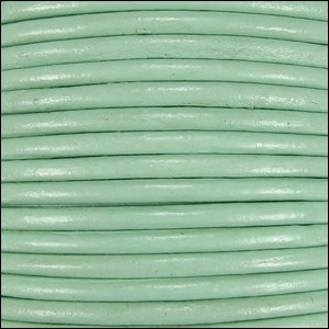 1.5mm Round Indian Leather Cord - Mint - per yard