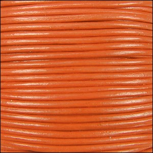1.5mm Round Indian Leather Cord - Orange - per yard