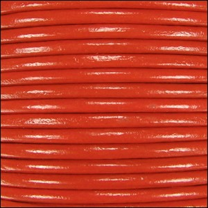 1mm Round Indian Leather Cord - Burnt Orange - per yard
