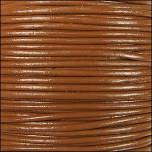 1.5mm Round Indian Leather Cord - Caramel - per yard