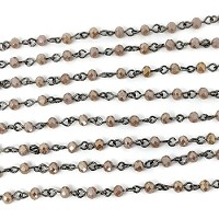 4MM Crystal Peach Beading Chain