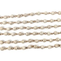 6MM Gemstone Howlite Beading Chain