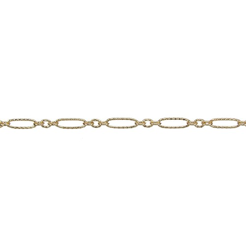 Etched Figaro Chain - Gold