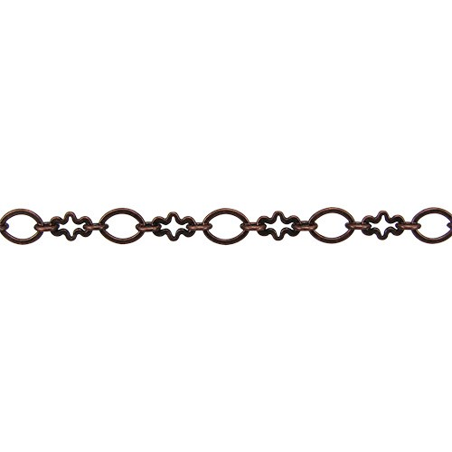 circle/cross chain ANT. COPPER - per foot