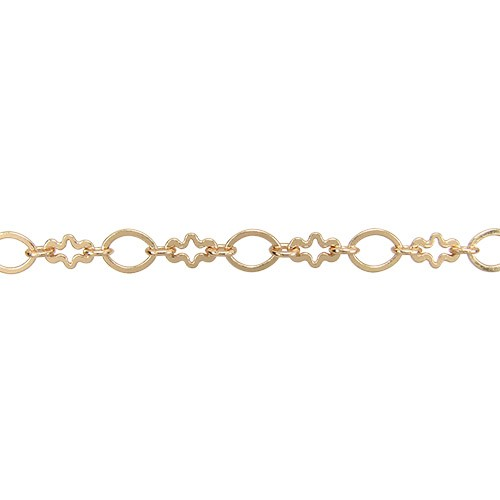 circle/cross chain GOLD per foot