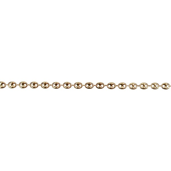 Pig Nose chain GOLD - per foot