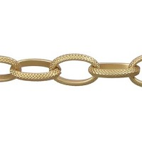 gothic chain MATTE GOLD per foot