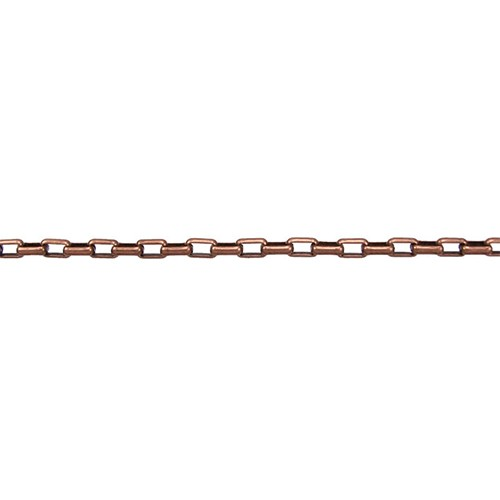 Oval Rolo Chain - Antique Copper