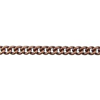 fine curb chain ANT. COPPER per foot