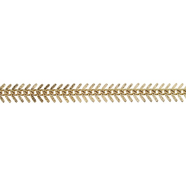 Small TEXTURED Fishbone chain GOLD
