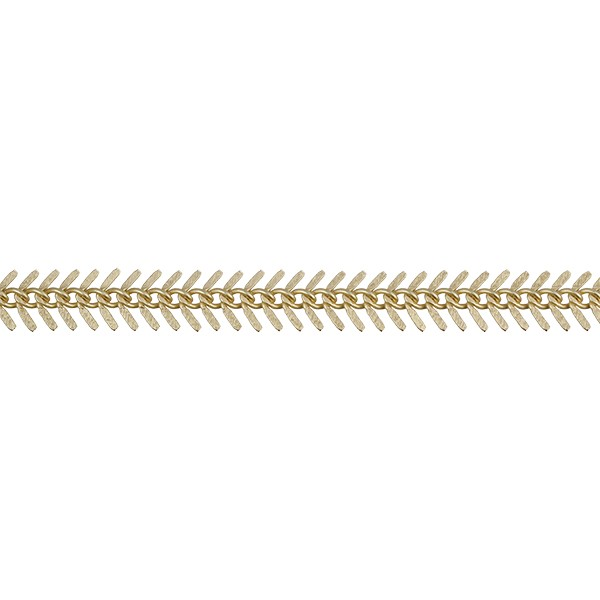 Small TEXTURED Fishbone chain MATTE GOLD