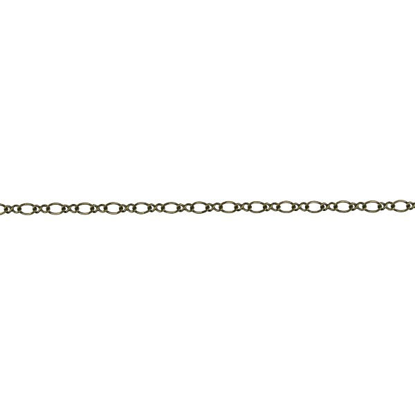 Figure 8 chain ANTIQUE BRASS - per foot