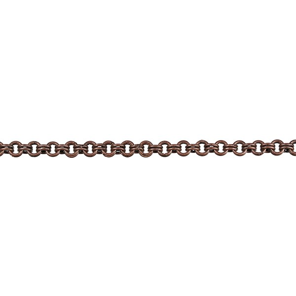 Double Link chain ANTIQUE COPPER - per foot