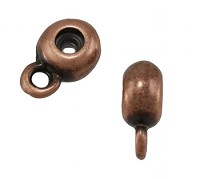 6mm Round Bead Stopper - Antique Copper
