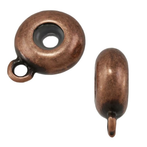 10mm Round Bead Stopper - Antique Copper per 10 pieces
