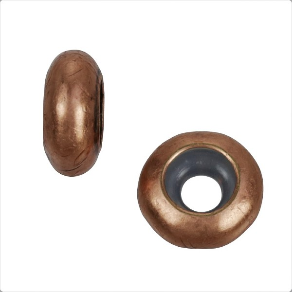 4mm Round Bead Stopper - Antique Copper