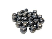 Claycult 12mm Round Ceramic Bead - Gunmetal
