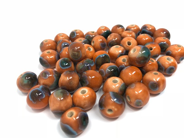 Claycult 12mm Round Ceramic Bead - Ayers Rock