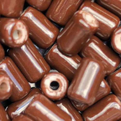 Clay River Porcelain Slider 10mm ROUND - Chocolate
