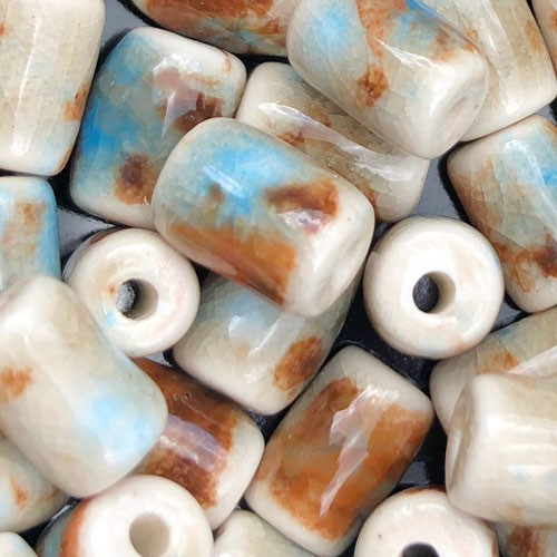 Clay River Porcelain Slider 10mm ROUND - Caribbean