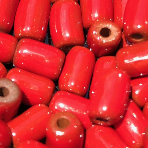 Clay River Porcelain Slider 10mm ROUND - Red