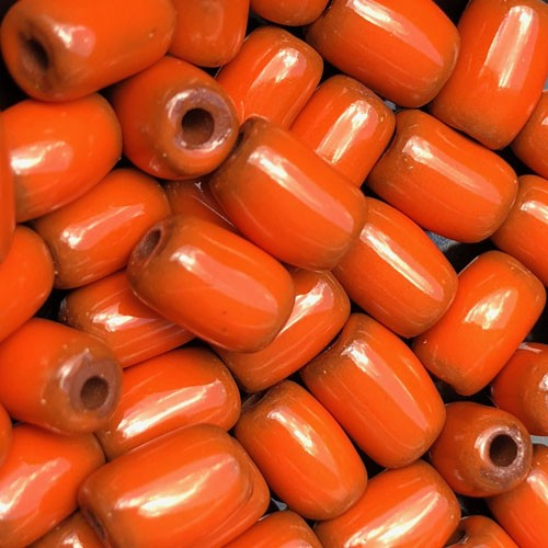 Clay River Porcelain Slider 10mm ROUND - Tangerine