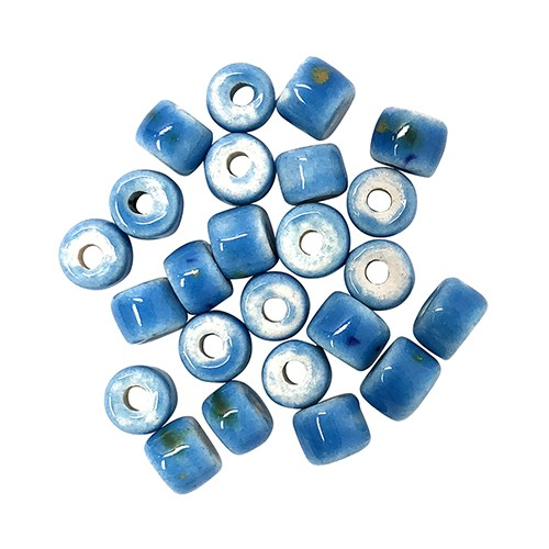 Clay River Porcelain Slider 5mm ROUND - Blue Caprice