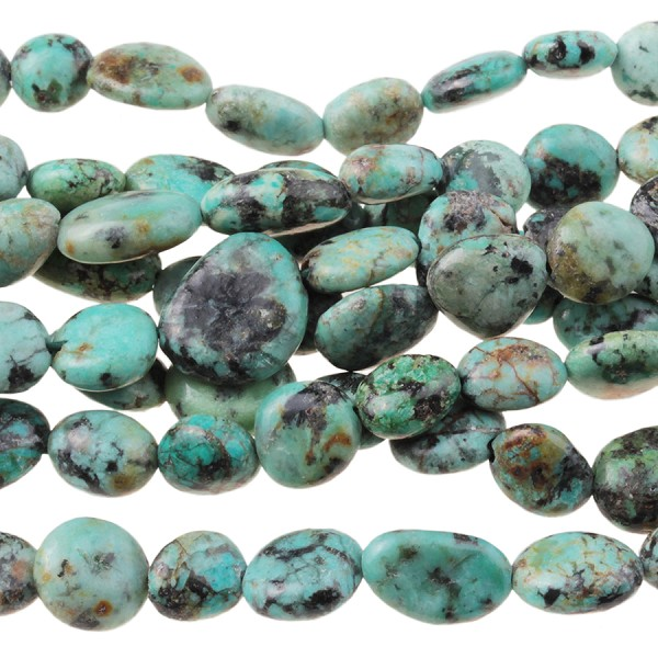 African Turquiose 4x6-6x8mm Pebble 16""