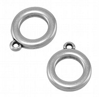 Rounded Ring Charm ant silver - per 10 pieces